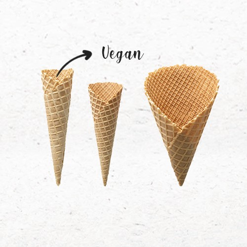 Cônes dentelés Vegan