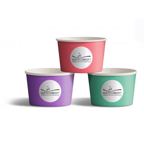Pot à glace en carton personnalisable