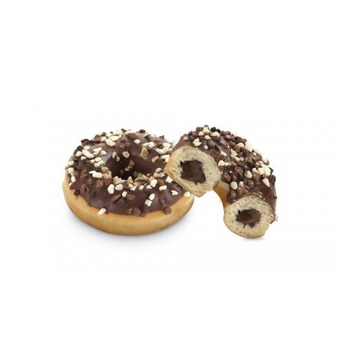 Donuts fourré au chocolat déco pépites 3 chocolats x24pcs