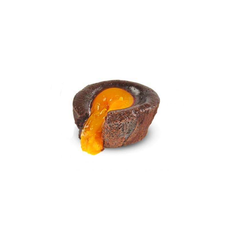 Fondant coeur orange x24pcs