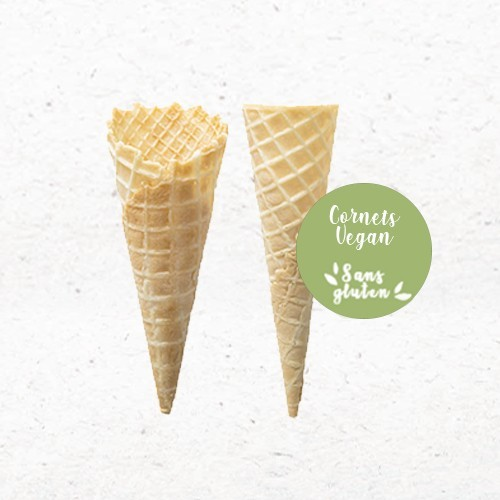 Cônes Vegan sans gluten