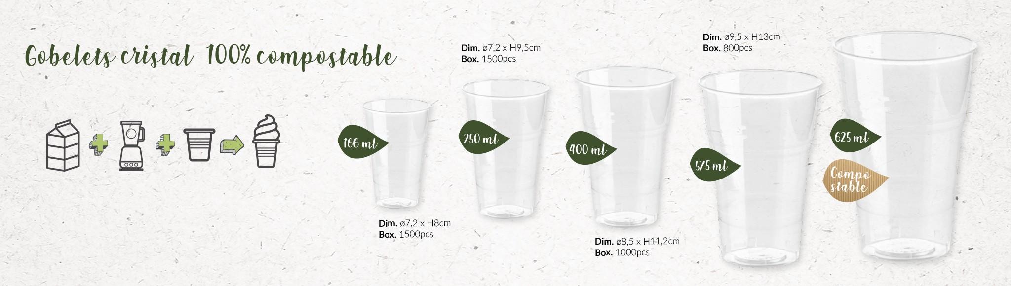 Gobelets 100% compostables