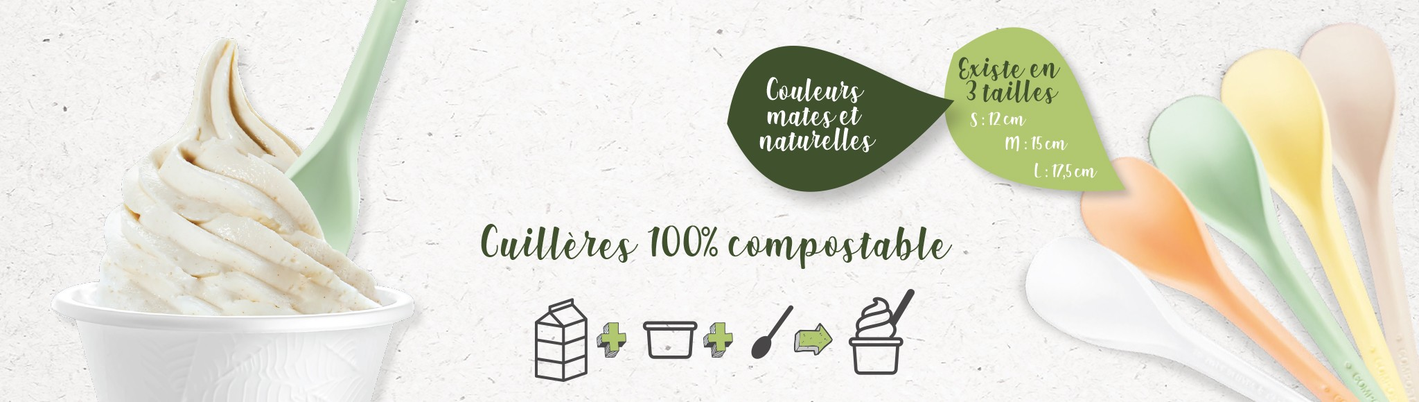 Cuillères 100% compostables